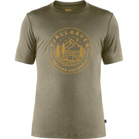 Fjällräven Abisko Tältplats T-shirt Laine Homme, light olive